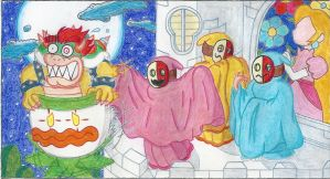 The Ghosts of Princess Peach's castle by Blockdasher91