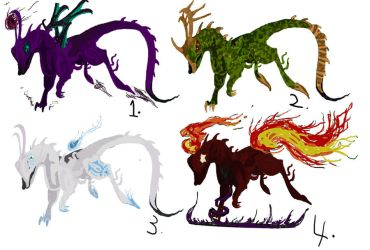 Adoptables - Dragon Hybrids 5 points each. by JellyRaven