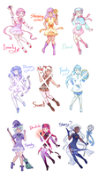 [4/9 OPEN] Magical Girl Adopts by luminarywitch