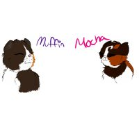 Mocha and Muffin by Hellish-artist