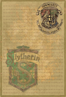 Slytherin Stationery Option1 by Sinome-Rae