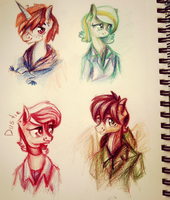 Project's characters. by Sherarina