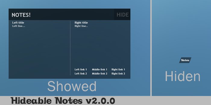 Hideable Notes 2.0.0 by jimmyl0l3c