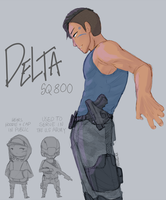 Detroit Become Human OC: Delta by Rosellaz
