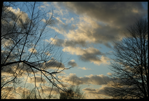 Clouds at Dusk by Algree