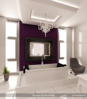 Purple-White Bathroom 3 by Semsa
