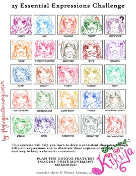 25 Expressions Meme featuring Kiriya-chan by Monicherrie