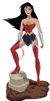 Wonder Woman Unlimited Action? by Glee-chan