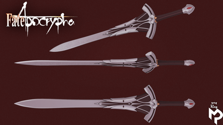 FateApocrypha Mordred's Clarent Sword  HighPoly by MirceaPrunaru