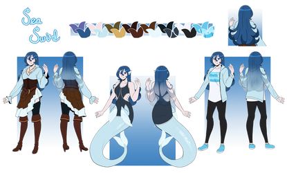Comm: Sea Swirl Reference Sheet by Miss-Sheepy