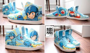 Megaman Sneaker by Bobsmade