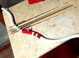 PVC Bow Flute and hand-made Arrows by Geotjakra