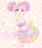 The Magical Cotton-candy Girl by RimaPichi