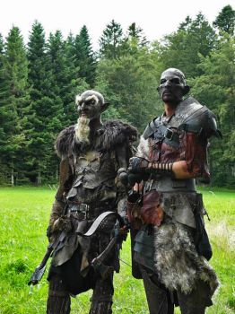 the shaman orc and the archer by silvercrow