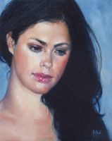 Jana - Oil Painting by AstridBruning