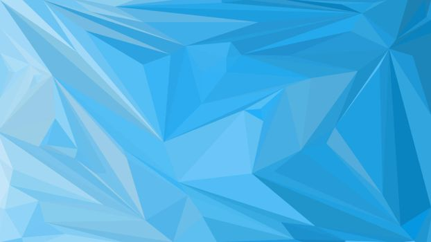 Abstract Low Poly Wallpaper #2 BLUE by TheArtOfPoly
