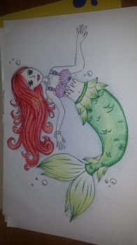 mermaid doodle by Slow-Chemical-Design