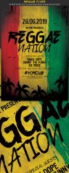 Reggae Party Flyer Template by Hotpindesigns