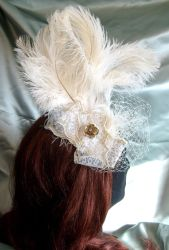 Crazy angel fascinator by fairyfrog