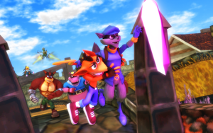 Team Bandicoot vs Team Cooper by NinjawsGaiden