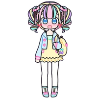 Pastel Girl with Backpack by Rosemoji