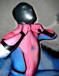 MCU Homecoming Spider-man wearing a swimcap by rubbermask