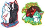 Badge Commissions-Wolf Couples by Stray-Sketches