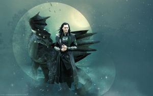 Loki and dragon (wallpaper) by AnnGeea