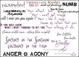 Various Lyric Brushes by Bound-By-Leather