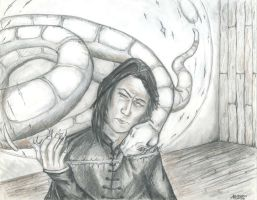 Snape and Nagini by initialaitch