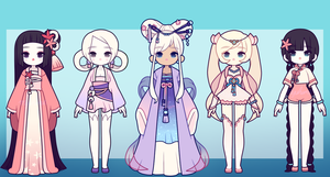 Chinese Adopts: 3 OPEN by MyuHime