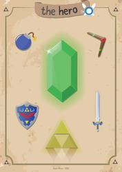 The Hero - Zelda Inspired Poster by jamieoliver22
