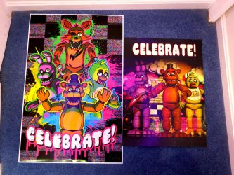 Five Nights at Freddy's Celebrate Posters by gold94chica