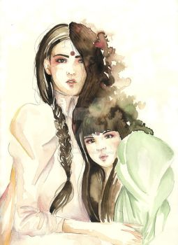 Fashion Aquarelle - sisters by Jibril-Cosplay