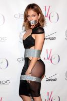 Jennifer Lopez Duct Tape Bound and Gagged by Goldy0123