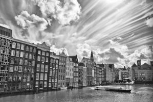 Amsterdam Canal Scene by BusterBrownBB