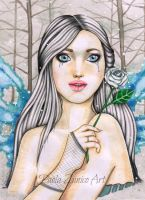 The White Rose of Winter by PaolaZunico