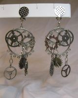 Circle of Steam - Steampunk Earrings by DanielleDucrest