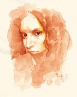 Practice in watercolor M by SILENTJUSTICE