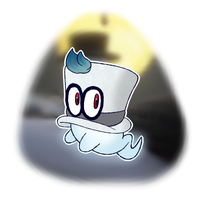 Drawtober Day 27: THE LIL HAT GHOST by WhicheverComa