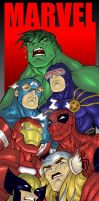 Marvel BOOKMARK COLORED 2010 by LucasAckerman
