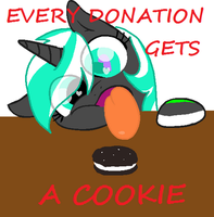 Every donation gets a cookie by ShadowDash1356