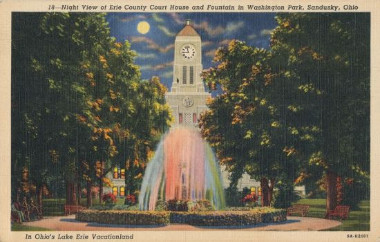 Night Scene Postcards - Lake Erie Vacationland, OH by Yesterdays-Paper