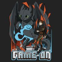 HTTYD2 T-Shirt Design:: Game On! by renkarts