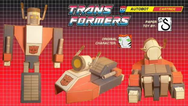 Transformers OC Cartride papercraft v0.3c photos by shadree