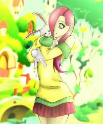 Fluttershy and Angel by RoboTheHoobo