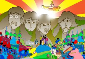 Yellow Submarine - The Beatles by Cryptdidical