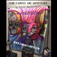 Hand Painted,airbrushed 10ft Backdrop SamanthaWpg by VisualEyeCandy