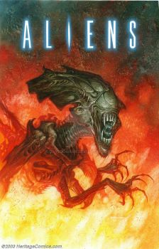 Aliens PB Cover art by DaveDorman