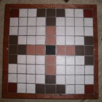 Hand Painted Tafl Board Box Top View by Des804
